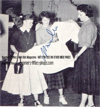 photo in 1958 yearbook, taken at dress shop