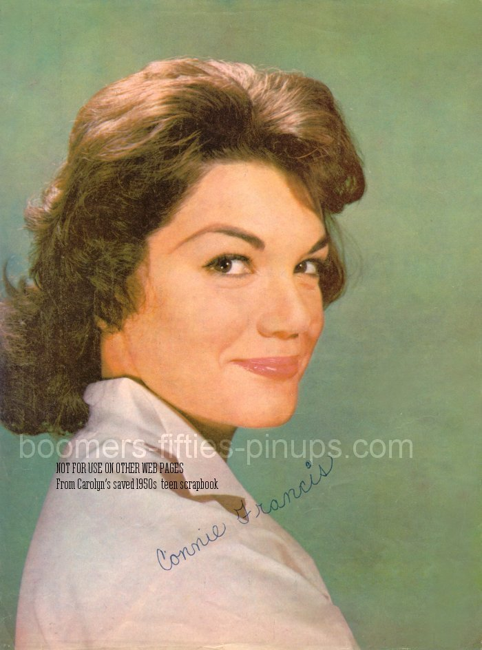 boomers pinups work product connie francis picture