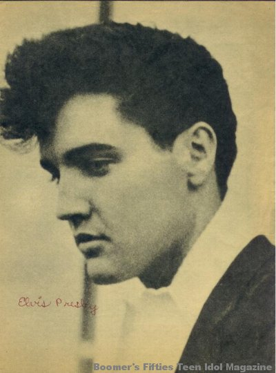 © boomers pinups work product - elvis presley magazine picture