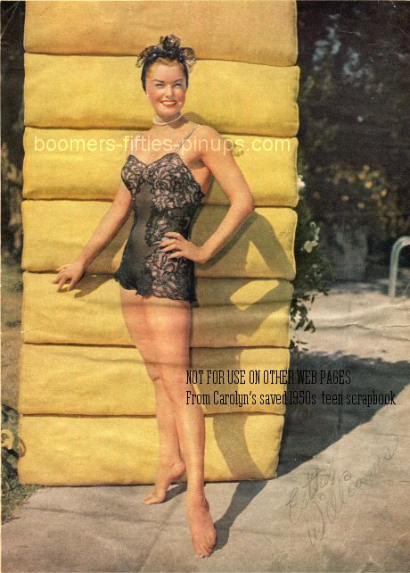 © boomers pinups restored work product - esther williams in swimsuit