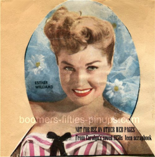 © boomers pinups work product - esther williams picture