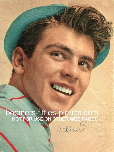 © boomers pinups work product - fabian forte 1959 fashions