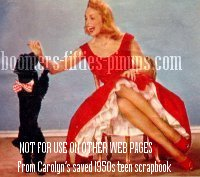 © boomers pinups work product - janet leigh, dress with petticoats