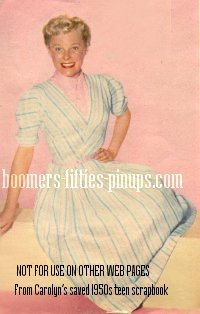 © boomers pinups work product - photo of june allyson wearing pastel dress