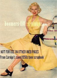 © boomers pinups work product - virginia mayo in halter dress photo