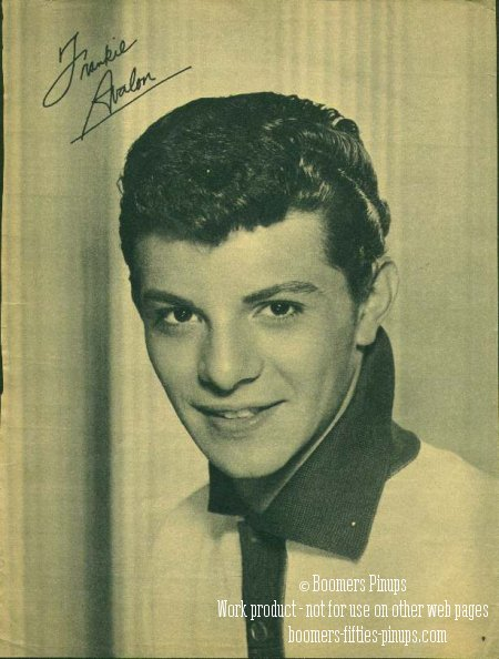 © boomers pinups work product - frankie avalon picture
