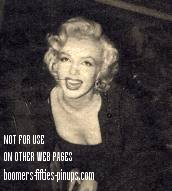 © boomers pinups work product - marilyn monroe photo in black dress