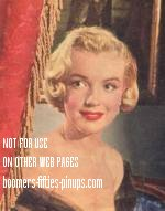 © boomers pinups work product - marilyn monroe curtain call photo