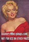 © boomers pinups work product - marilyn monroe picture in red dress
