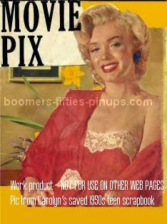 © boomers pinups work product - marilyn monroe picture on scrapbook cover