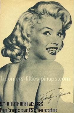 453587dac100 boomers pinups work product - marilyn monroe picture
