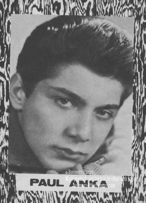 © boomers pinups work product - paul anka teen magazine picture