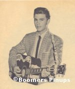 © boomers pinups work product - ricky nelson picture with guitar
