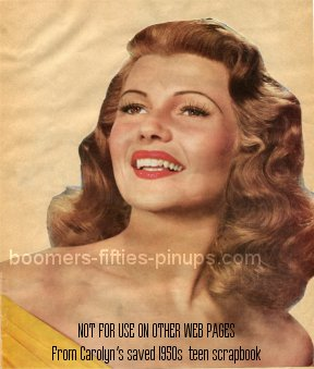 © boomers pinups restored work product - rita hayworth picture