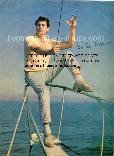 © boomers pinups work product - rock hudson mailman picture