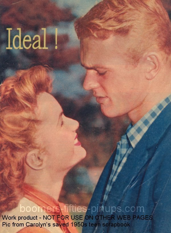 © boomers pinups work product - debbie reynolds & tab hunter