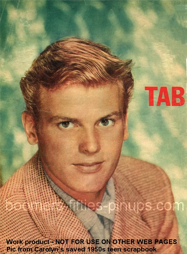 ©  boomers pinups work product - tab hunter pinup