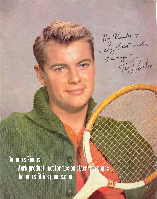 © boomers pinups work product - troy donahue tennis picture
